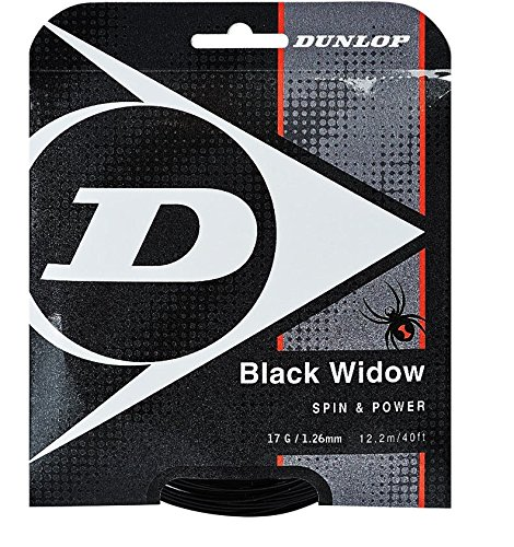 Black Widow Spin And Durability Biomimetic 17G Tennis String ()