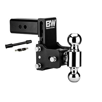 "B&W Hitches TS20037B 5"" Drop & 4-1/2"" Rise Ball Mount w/2"" x 2-5/16"" Dual Ball and 5/8"" Black Receiver Hitch Lock Bundle: Automotive"