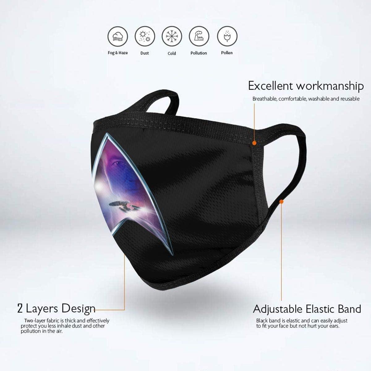 Star Trek Mundschutz Sch/ützen Sie Bequeme atmungsaktive Sicherheit Luftnebel Outdoor Fashion Half Face Shield f/ür Mann und Frau