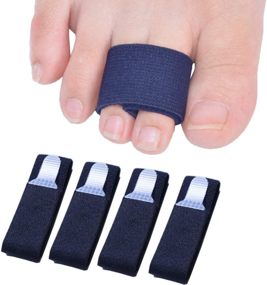 Sumifun - Vendas separadoras para dedos de pies rotos o martillo, 4unidades, alineación de dedos en caso de fractura, perfectas para hombres o mujeres