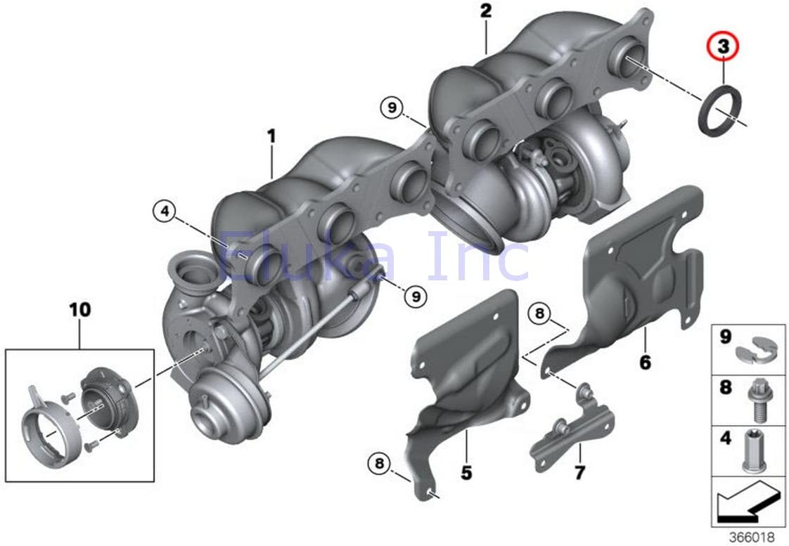 BMW Turbo Charger Exhaust Manifold Gasket Manifold To Cylinder Head 535i 535xi 535xi X6 35iX 135i M Coup/é 135i Z4 35i Z4 35is 335i 335xi 335i 335xi 335i 335xi 335is 335i 335is 740i 740Li