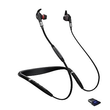 Jabra Evolve 75e Auriculares negros, micrófono, inalámbrico, con cancelación activa de ruido,