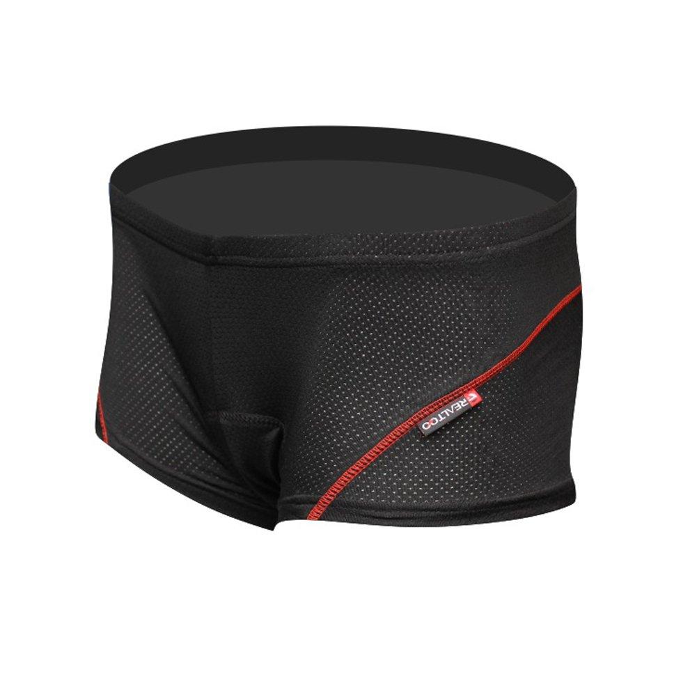 BADI NA Mens 3D Padded Sponge Coolmax Bicycle Cycling Underwear Shorts Black 4XL by BADI NA (Image #2)