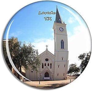 Fridge Magnet Laredo San Agustin Catholic Cathedral Texas USA TX Travel Souvenir Collection for Gift Home Decoration Office Whiteboard