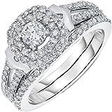 14K White Gold Diamond Engagement Ring (0.80 CT)