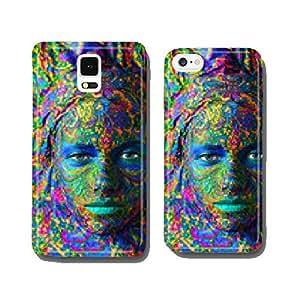 color face art woman close up portrait cell phone cover case Samsung S6