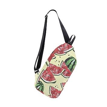Amazon.com: Sling Bag Watermelons And Dots Mochilas de ...