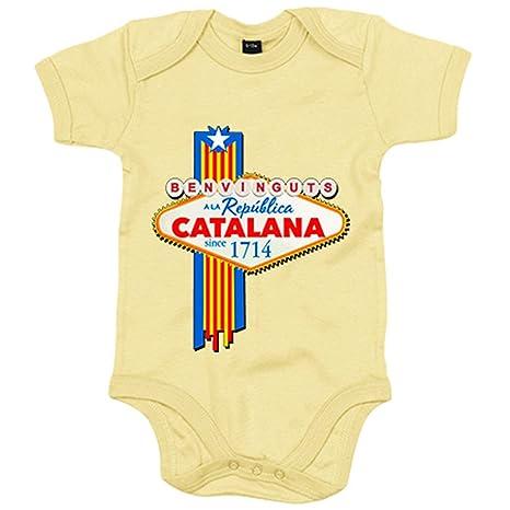 Body bebé Benvinguts a la República Catalana - Amarillo, 6 ...