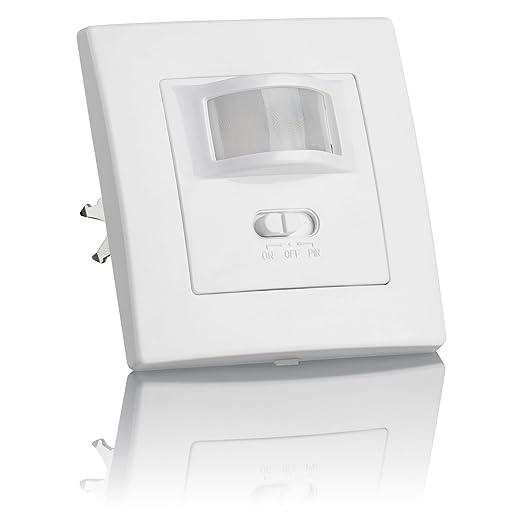 Sebson® Detector de Movimiento empotrable, Interior, LED Adecuado, Montaje en Pared, programable, Sensor de Infrarrojos, Alcance 9m/160°: Amazon.es: Hogar