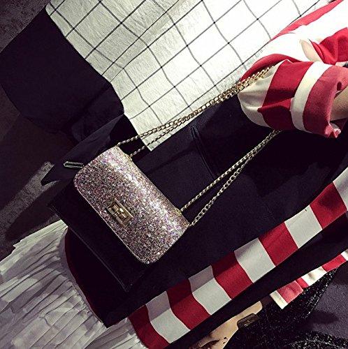 Boutique Cross Bag Shiny Paillette Shoulder Sequins black Handbags Pink Novias Women Body AawxXw1q