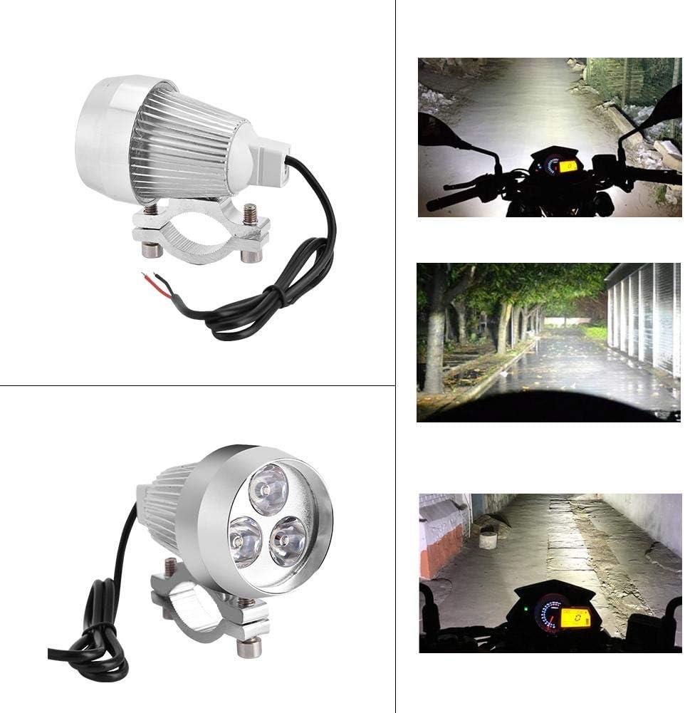 Akozon 30W 3 LED Spot Light Driving Phare antibrouillard DRL pour Moto V/élo