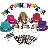 Colorful New Years Party Supplies Kit for 10