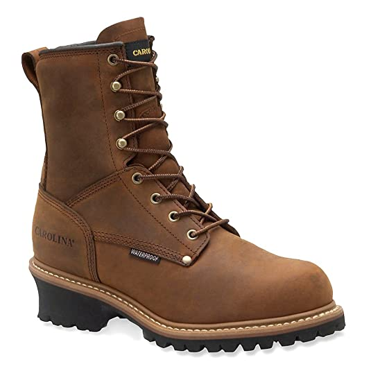 Amazon.com: Men's Carolina 8 inch 600 Grams Thinsulate Insulated Steel Toe  Logger Boots Copper: Shoes