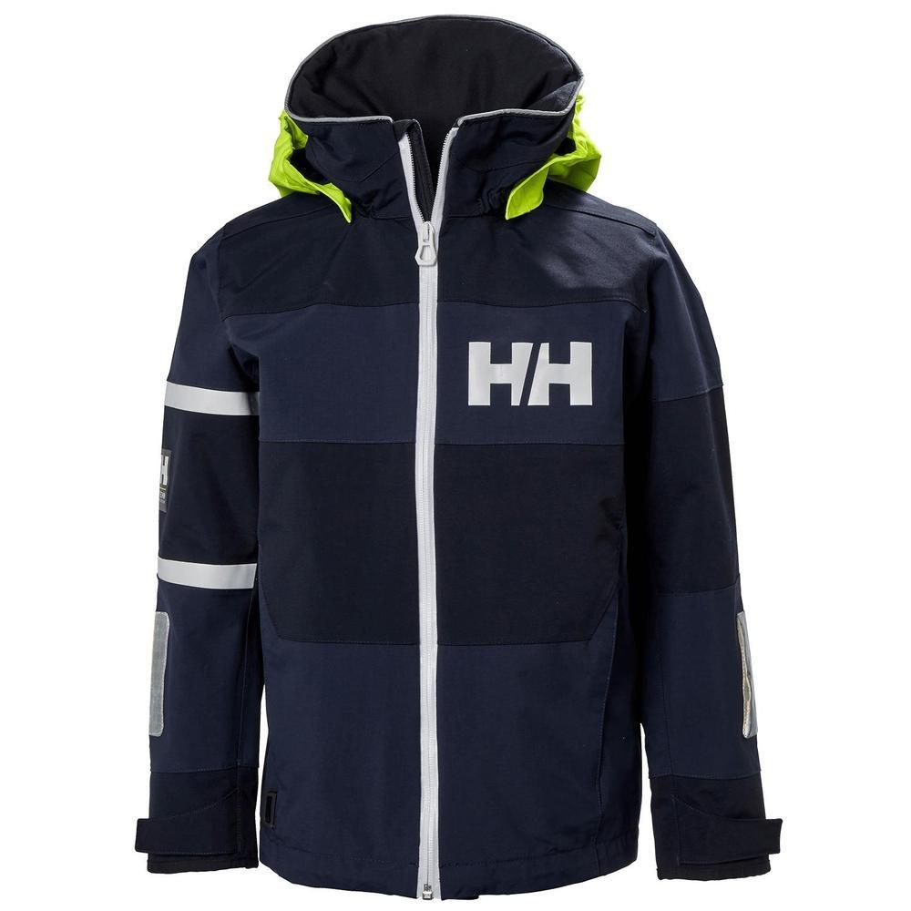 Helly Hansen Junior Salt Coast Jacket, Evening Blue, Size 12 by Helly Hansen (Image #1)