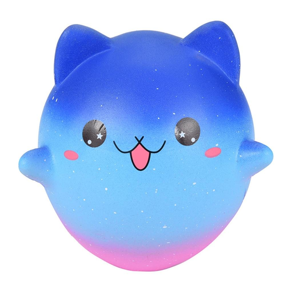 Cartoon Galaxy Kitty - Franterd Stress Reliever Kawaii Toy - Scented Slow Rising Squishy Simulation Gift - Kids &Adults Decompression Squeeze Toys - Educational Hop Decorative Props Toys by Franterd Toys (Image #4)