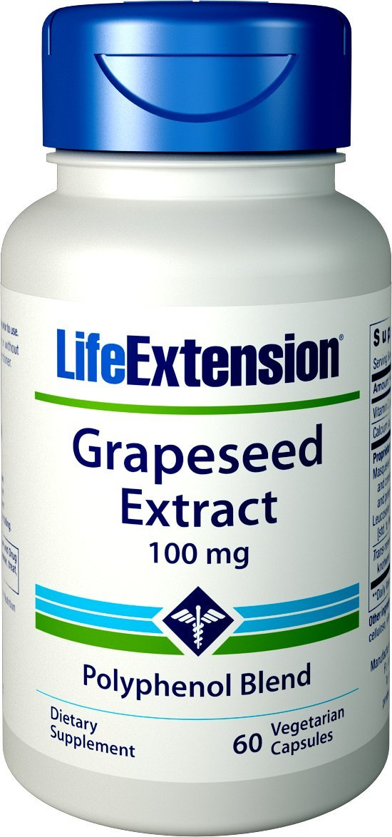 Life Extension Grapeseed Extract 100 Mg, 60 Count