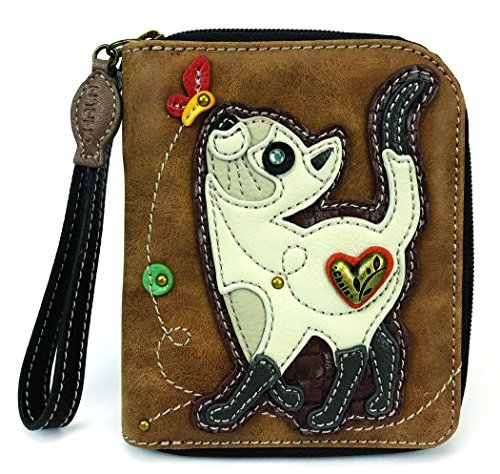 CHALA Pal Zipper Wallet Collection (Slim Cat - Brown)