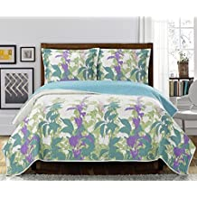 Freya King/Calking Size, Over-Sized Quilt 3pc set, Luxury Microfiber Printed Bedspread
