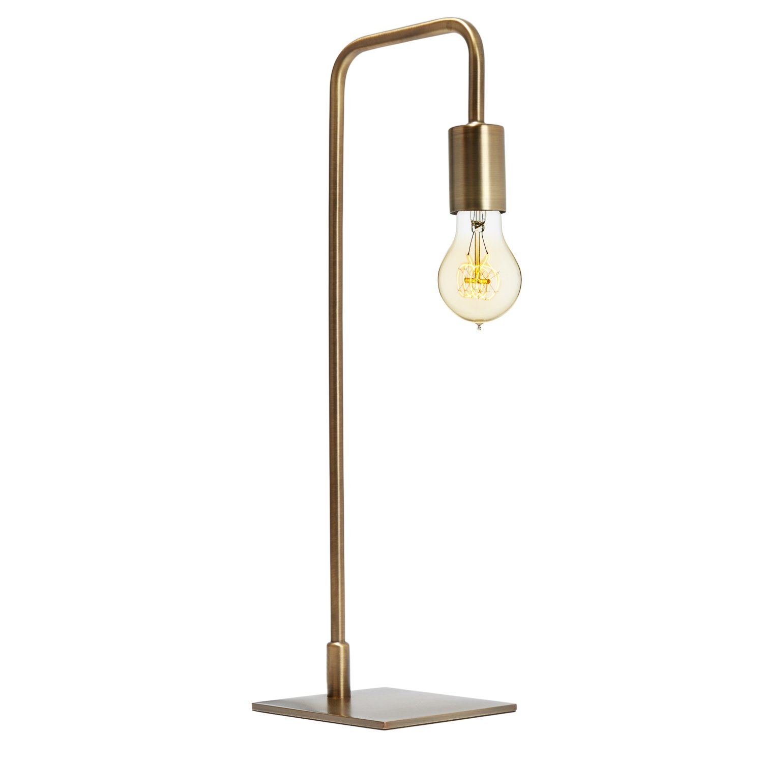 Bronze Modern Table Lamp - Bedside Reading Light, Dimmable, Plugin, Metal, Hoyt Collection by Brooklyn Bulb Co, ETL Listed …
