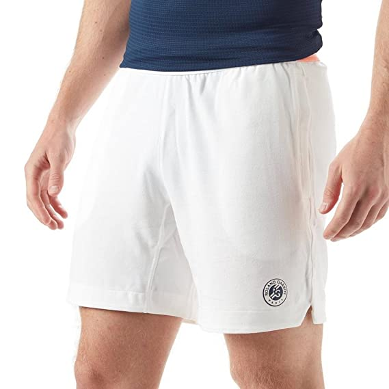 adidas Short Homme Roland Garros TSONGA Blanc Indigo Corail PE 2018  Amazon. fr  Vêtements et accessoires 1dfb84012f5
