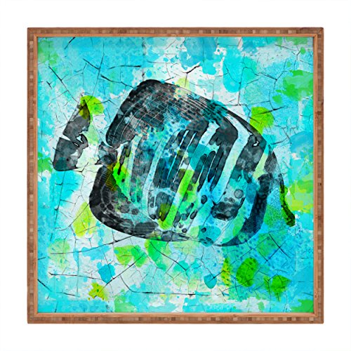 - Deny Designs Irena Orlov Tropical Marine Fish Indoor/Outdoor Square Tray, 16 x 16