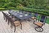 Oakland Living 11 Piece Vanguard Aluminum Dining Set, Aged Black Review