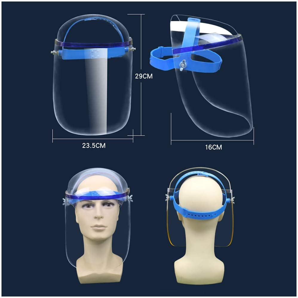 Anti-Spitting Visiera Industrial Safety Visiera Regolabile ispessite Plexiglass Protettivo Visiera Visiera,A FHUILI Trasparente di Protezione Visiera