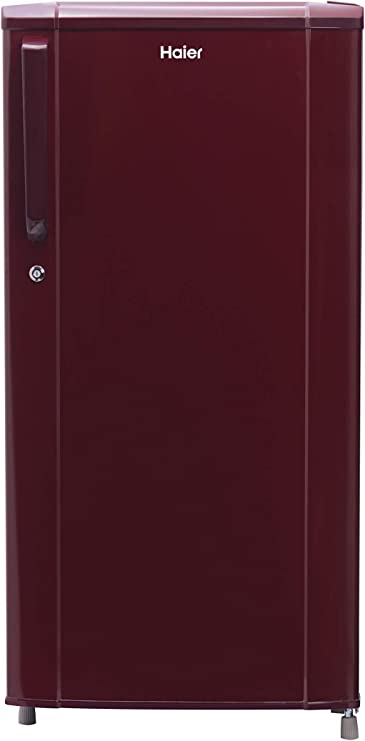 Haier 181 L 3 Star Direct Cool Single Door Refrigerator  HRD 1813BBR E, Red  Refrigerators