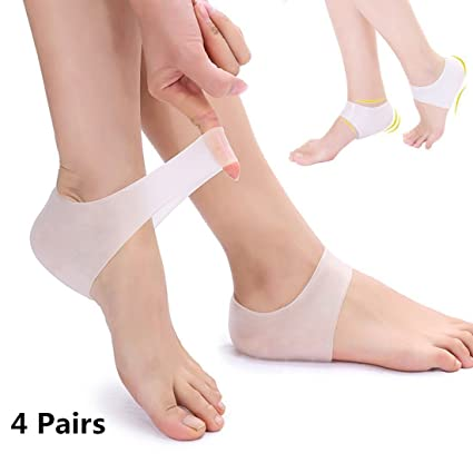 825faf1aca98 TraderPlus 4 Pairs Plantar Fasciitis Inserts Heel Protectors Foot Sleeve - Silicone  Gel Heel Cups Cushion for Relieve Pain and Pressure: Amazon.ca: Health ...