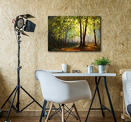 Oil Painting Style Landscape Summer Forest