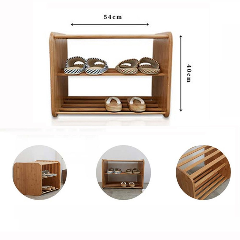 Shos Bench 2 Ties Shelf Shoe Organizer Entryway Stool Decor Furniture