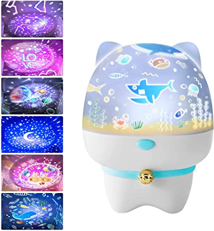 Fesjoy Proyector de luz Nocturna Star Nightlight 6 Temas 5 Colores ...