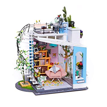 symboat casa de bricolaje juguete conjunto caseta de madera 3d Puzzle Cottage juguetes assemblés decoración de la casa: Amazon.es: Bricolaje y herramientas