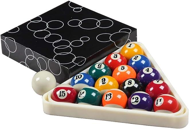 WXS Billar Americano Juego Estándar Ball 2 1/4 Pulgada (57.2mm) 16 Suministros Color Billar: Amazon.es: Deportes y aire libre