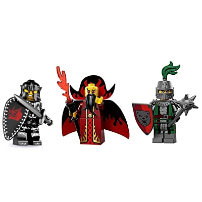 Lego Evil Knight, Evil Wizard, and Evil Knight with Bear Shield Minifigures: Beauty