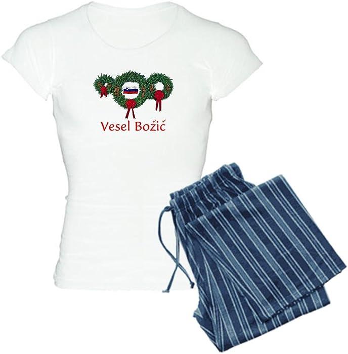 2e58dcfdc1d7 Amazon.com  CafePress - Slovenia Christmas 2 Women s Light Pajamas ...
