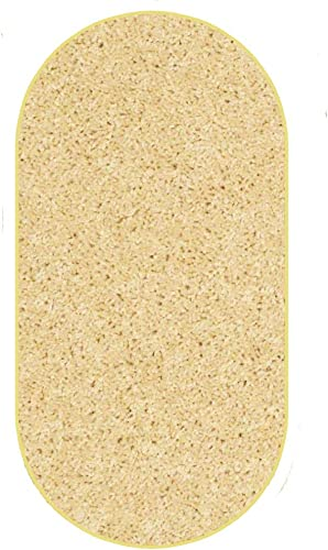 Koeckritz 6 x9 Oval Area Rug. Bright Sunflower Yellow