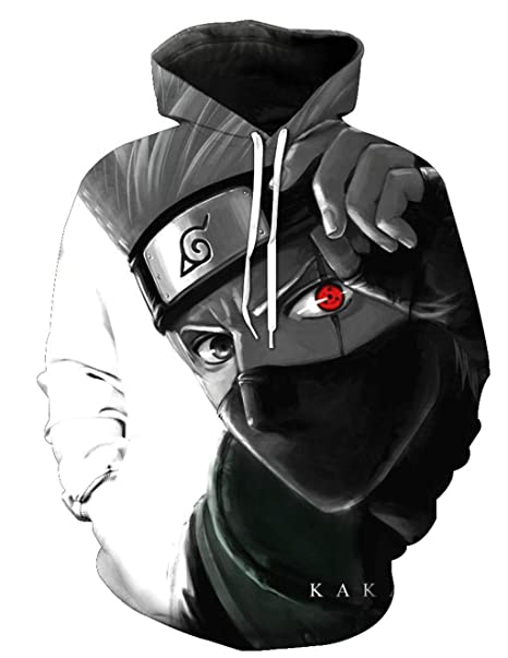 Sudaderas Naruto Hombres Kakashi Sudadera con Capucha Niño 3D ...