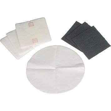DeLonghi 552094 - Juego de filtros para freidoras, negro/blanco