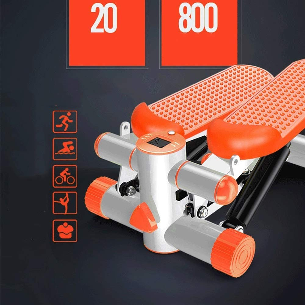 Steppers,Aerobic Fitness Exercise Machine,Mini Stepper Adjustable Air Stepper Twist Stepper with Hydraulic Resistance Fitness Exercise Machine (Color : Orange, Size : Casual Size) by Tabuji (Image #4)