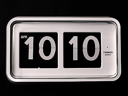 Homeloo Twemco German Quartz Retro Modern Wall Flip Clock BQ 100 (White)