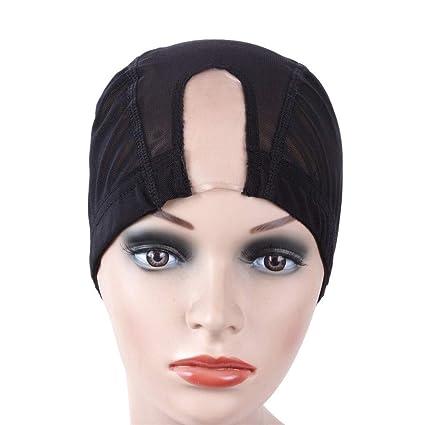 Liaowendi Peluca sombrero de pelo red elasticidad for hacer peluca ...