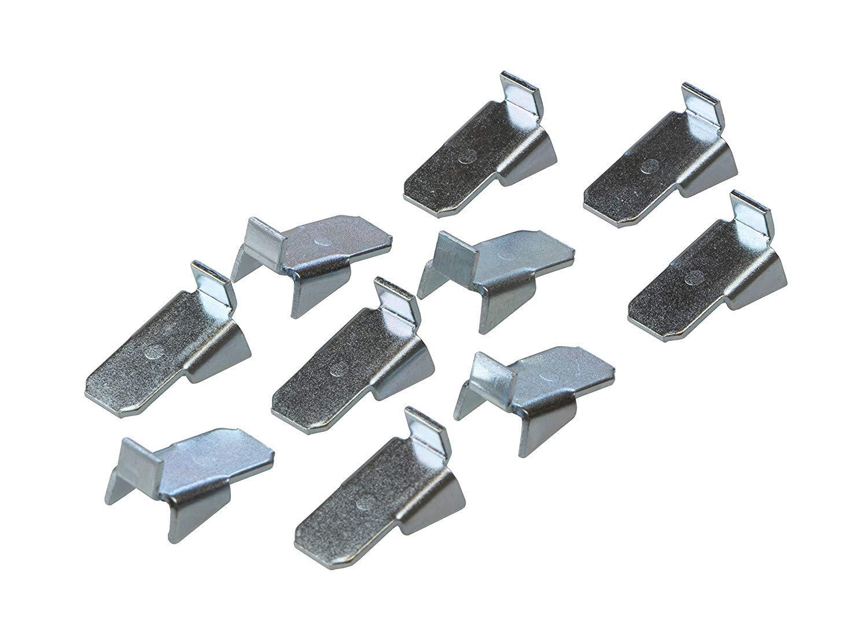 Vari 10 Acero Galvanizado Soporte para Holz-B/öden /& Tablarb/öden 20 Piezas Gedotec Soportes de Estante Metal Regal-Bodentr/äger para Colgar en Carril Fachbodentr/äger para Regaltr/äger-schiene
