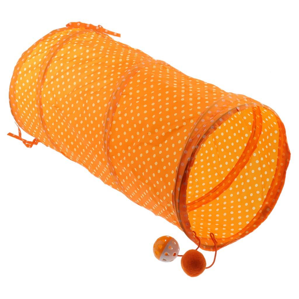 B Blesiya Bright Vivid Colored Cat Tunnel Tent Toy,50x25x25 cm Yellow