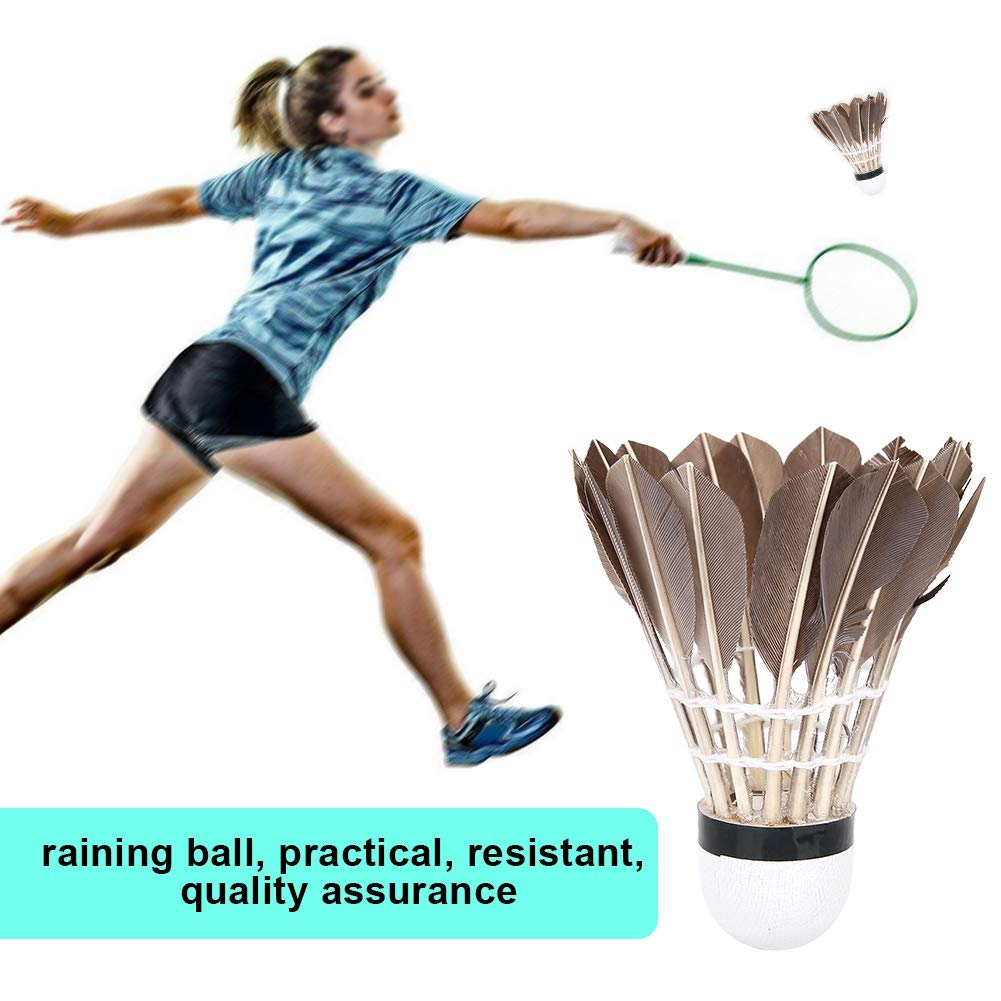 12Pcs Duck Badminton Sport Shuttlecocks Training Badminton B/älle Outdoor Indoor Sports Zubeh/ör VGEBY Badminton