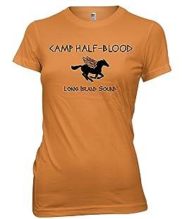 Camp Demi Sang Funny Livre T-Shirt pour Femme T-Shirt pour Femmes, Filles - Orange - M