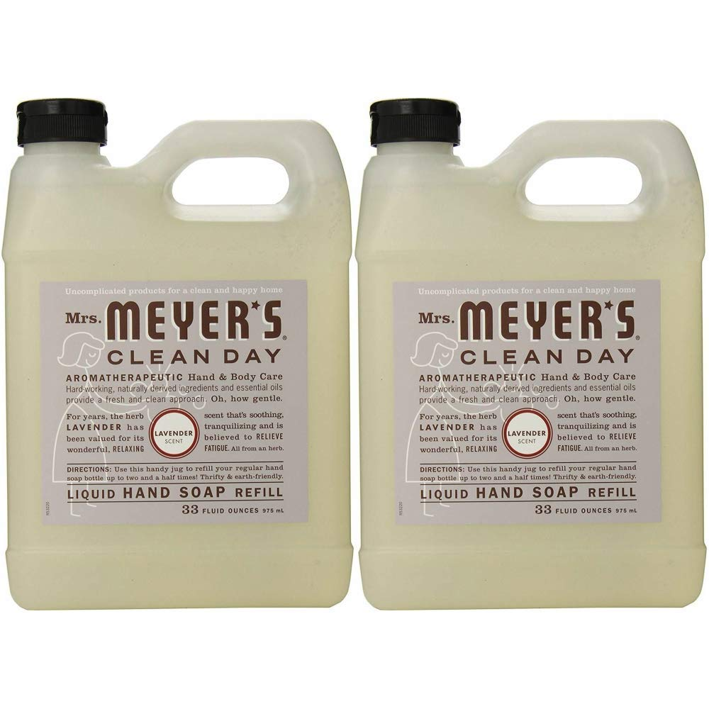 Mrs  Meyers Clean Day Hand Soap Refill, Lavender 33 oz (Pack Of 4)