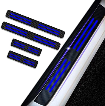 for Dodge Ram Grand Caravan Charger Vinyl Door Sill Protector Blue 4pcs