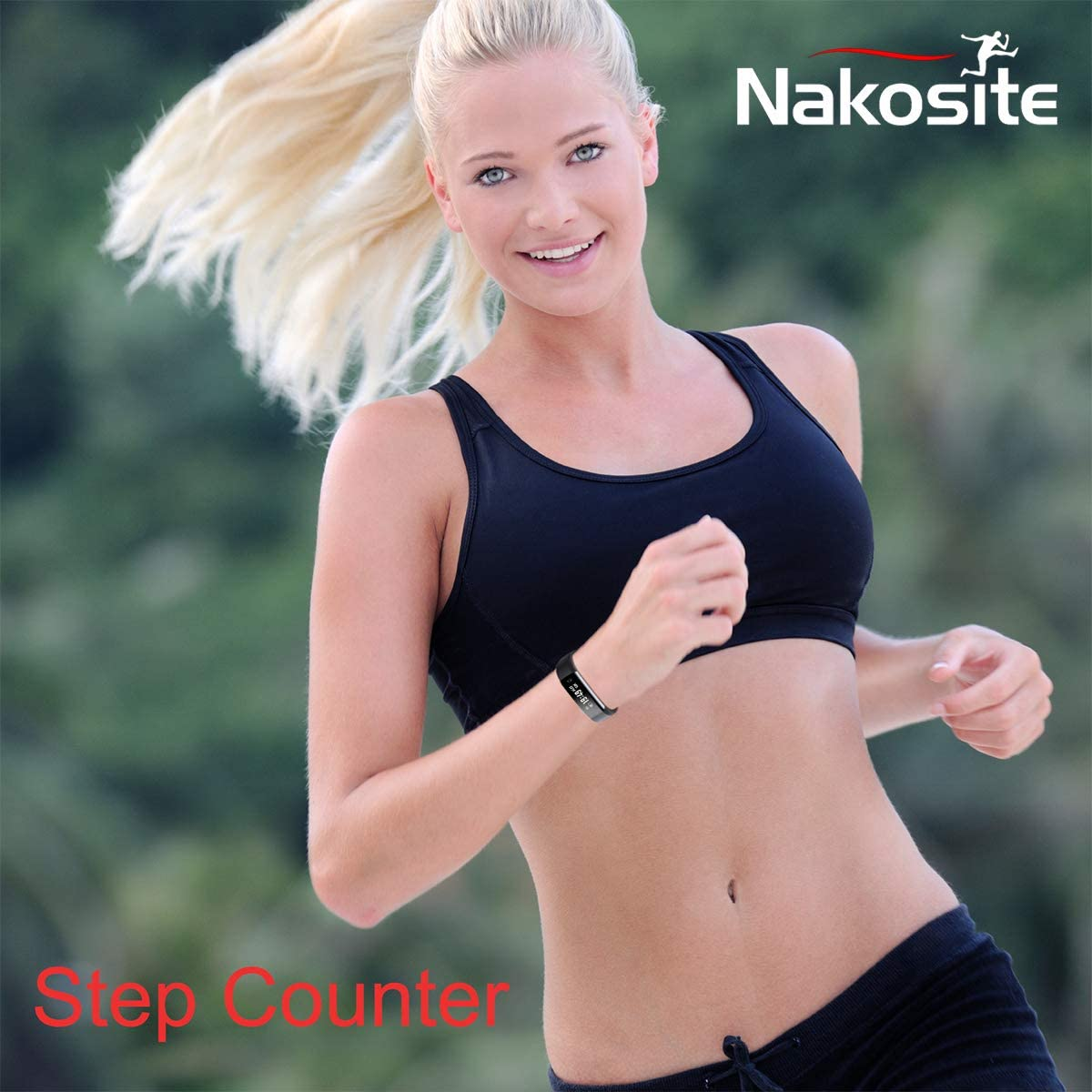 Android 5.0 and IOS 8 Blue strap NAKOSITE RAY2433 Smart Watches Fitness Trackers for men women and kids with Pedometer Step Counter Calorie Sleep Distance Monitor Activity Tracker watch,Bluetooth 4.0