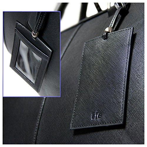 BFB Laptop Messenger Bag - Designer Business Computer Bag or Briefcase for Men - Ideal Commuter Bag for Work and Travel - Black by My Best Friend is a Bag (Image #8)